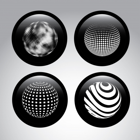 spheres design  over gray background vector illustration Stock Vector - 23998340