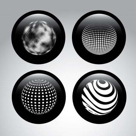 spheres design  over gray background vector illustration Stock Vector - 23998340