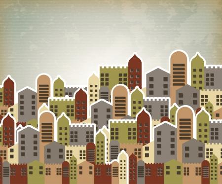 estilo urbano: estilo urbano cosecha de fondo ilustraci�n vectorial
