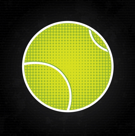 tennis design over black background vector illustration Vector