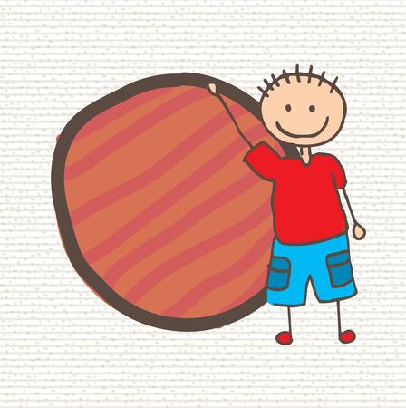 camaraderie: kid design over white background  vector illustration