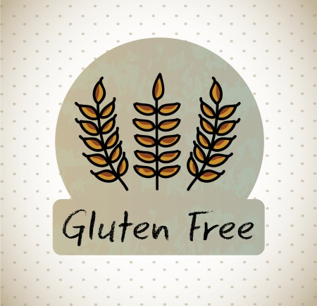 gluten free label over dotted background vector illustration  Vector