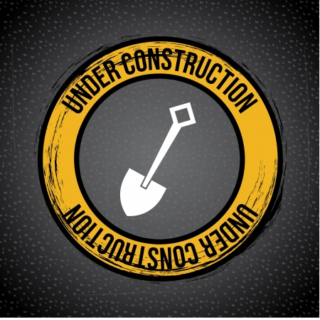 under construction over pattern background vector illustration   Vector