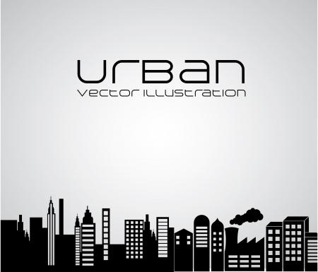 urban design over gray background vector illustration  Illustration