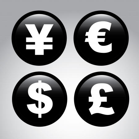 currency exchange: finance signs over gray background vector illustration