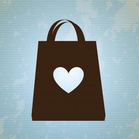 shopping bag  design over blue background vector illustration  Vector