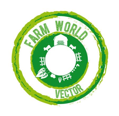 farm design over  white background vector illustration Vector