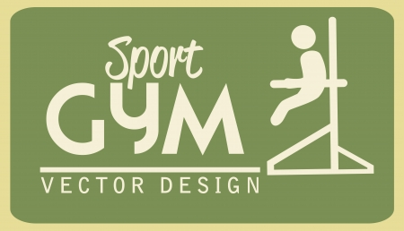 gym  design over green  background vector illustration  Vector