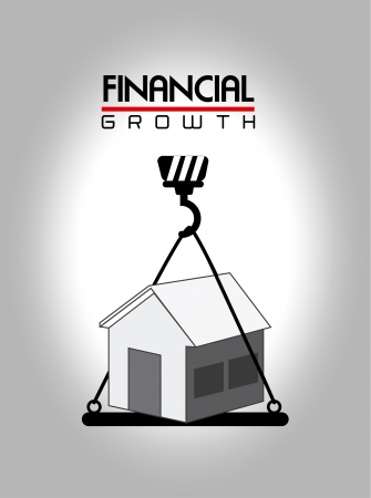 identifiers: financial growth over  gray background vector illustration
