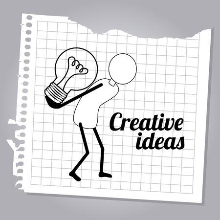 skulp: creative ideas design over gray   background vector illustration