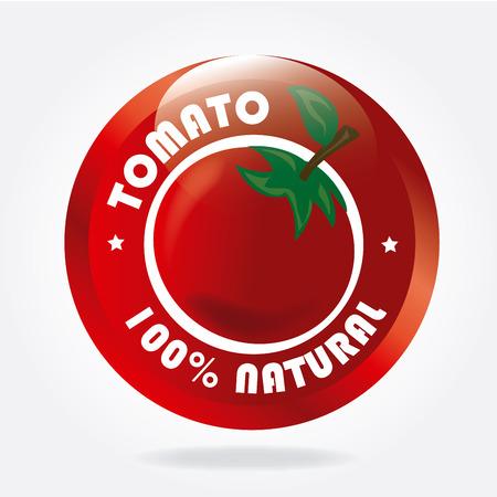 Tomaten-Design auf weißem Hintergrund Vektor-Illustration