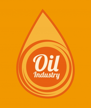 oil  industry over orange  background vector illustration