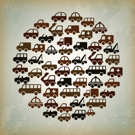 axles: cars design over vintage  background vector illustration