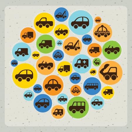 cars design over gray background vector illustration Vector