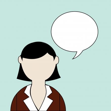 businesswoman over blue background vector illustration Vector