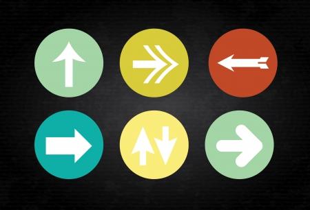 designator: botones de flechas sobre fondo negro ilustraci�n vectorial