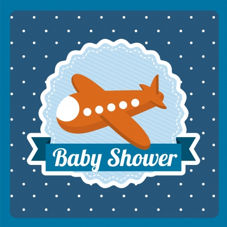 circl: baby shower design over dotted background vector illustration
