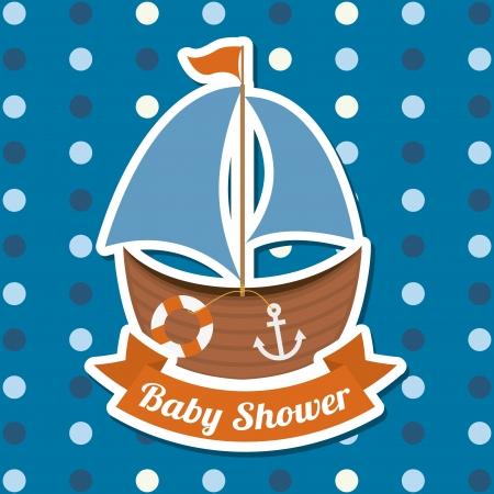 lifeline: baby shower design over dotted background vector illustration
