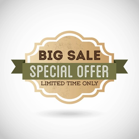 better icon: special offer design over gray  background vector illustration
