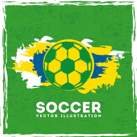 brazil design over green background vector illustration
