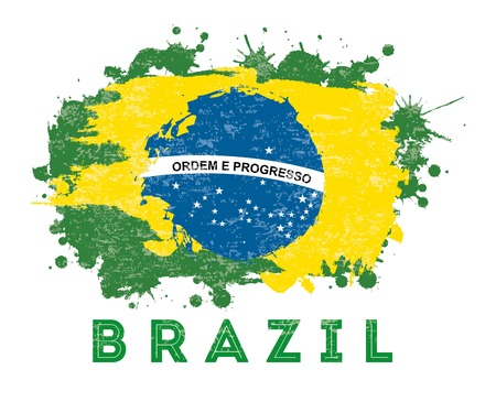 brazil design over white background vector illustration Ilustração