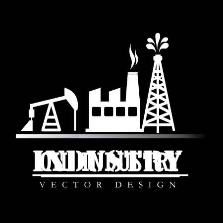 industry design over black  background vector illustration  Vector