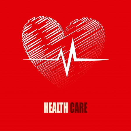 health care design over red background vector illustration Stock Vector - 23999362
