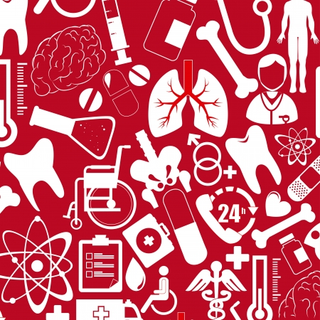 medical design  over red  background vector illustration   Vector