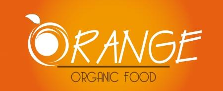 drinkseal: orange citrus fruit  over orange  background vector illustration
