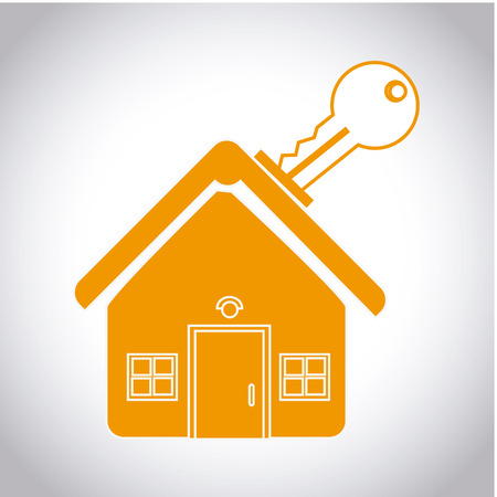 house prices: real estate over gray background vector illustration  Illustration