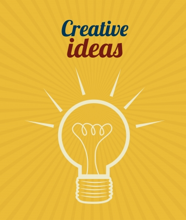 skulp: creative ideas design over orange  background vector illustration