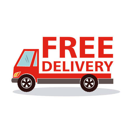 free delivery: Free delivery  over white background vector illustration