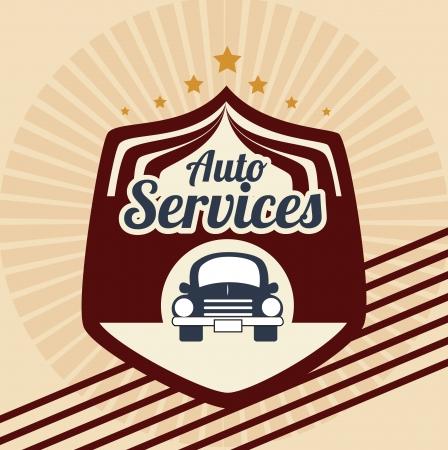 car service over pink background vector illustration  Vector