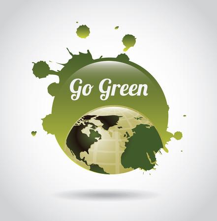 eco design over gray background vector illustration Vector