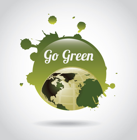 enviromental: eco design over gray background vector illustration