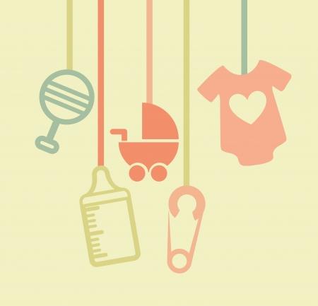 baby design over cream  background vector illustration Vector
