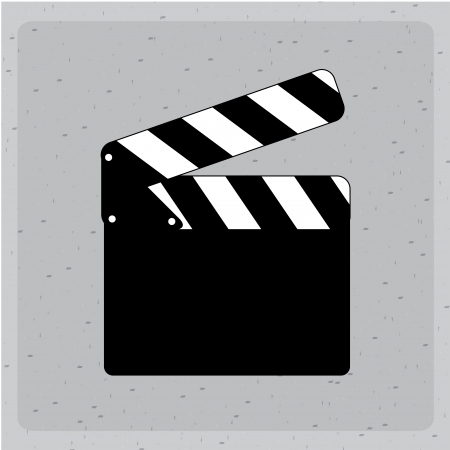clapper design over gray background vector illustration