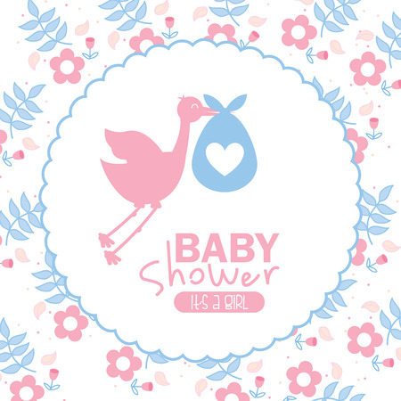 baby shower design over white  background vector illustration Vector