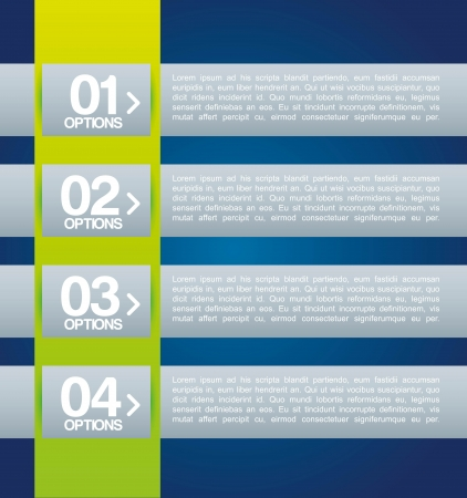 determinants: infographics design over blue   background vector illustration