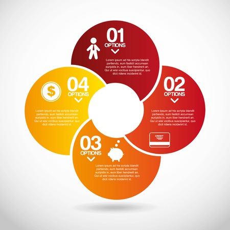 infographics design over gray   background vector illustration