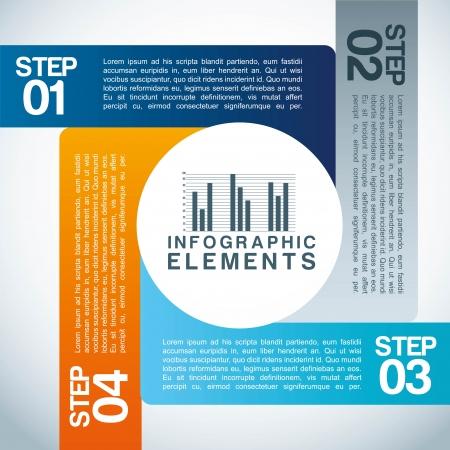 determinants: infographics design over blue   background vector illustration
