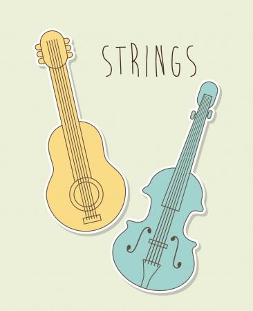 interpreter: musical design over beige background vector illustration