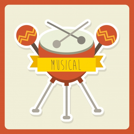 musical design over pink background vector illustration Stock Vector - 24071252