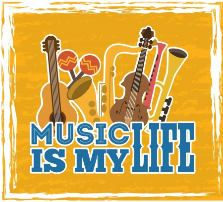 musical design over yellow background vector illustration Stock Vector - 24071275