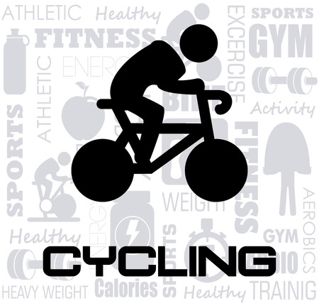 rout: cycling design over white background vector illustration