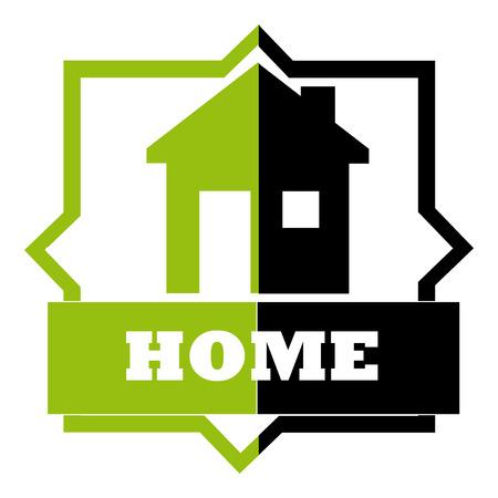 sustained: home design over white background vector illustration   Illustration
