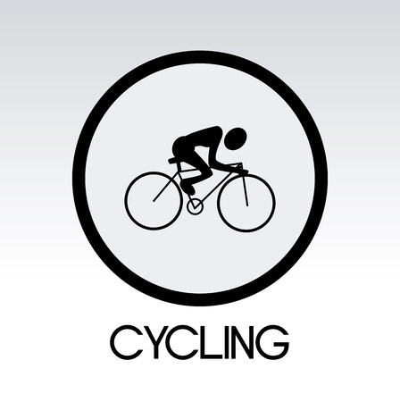 cycling design over gray background vector illustration   Vector