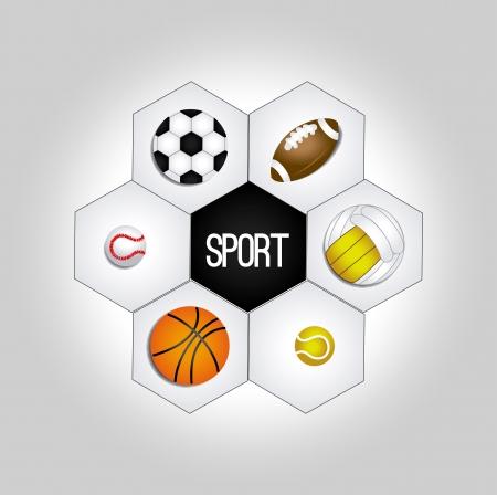balones deportivos: se divierte bolas sobre fondo gris ilustraci�n vectorial