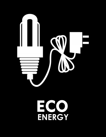 conection: bulb energy over black background vector illustration    Illustration