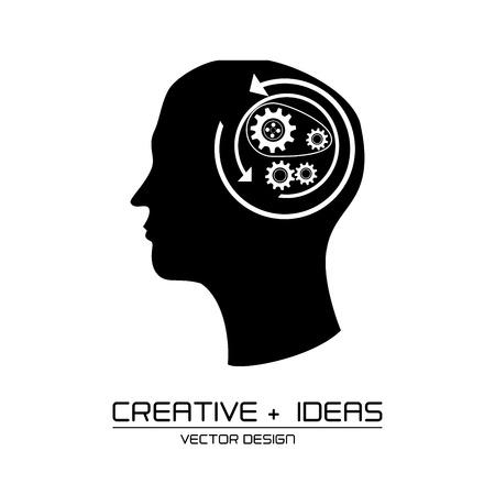 skulp: creative ideas design over  white background vector illustration